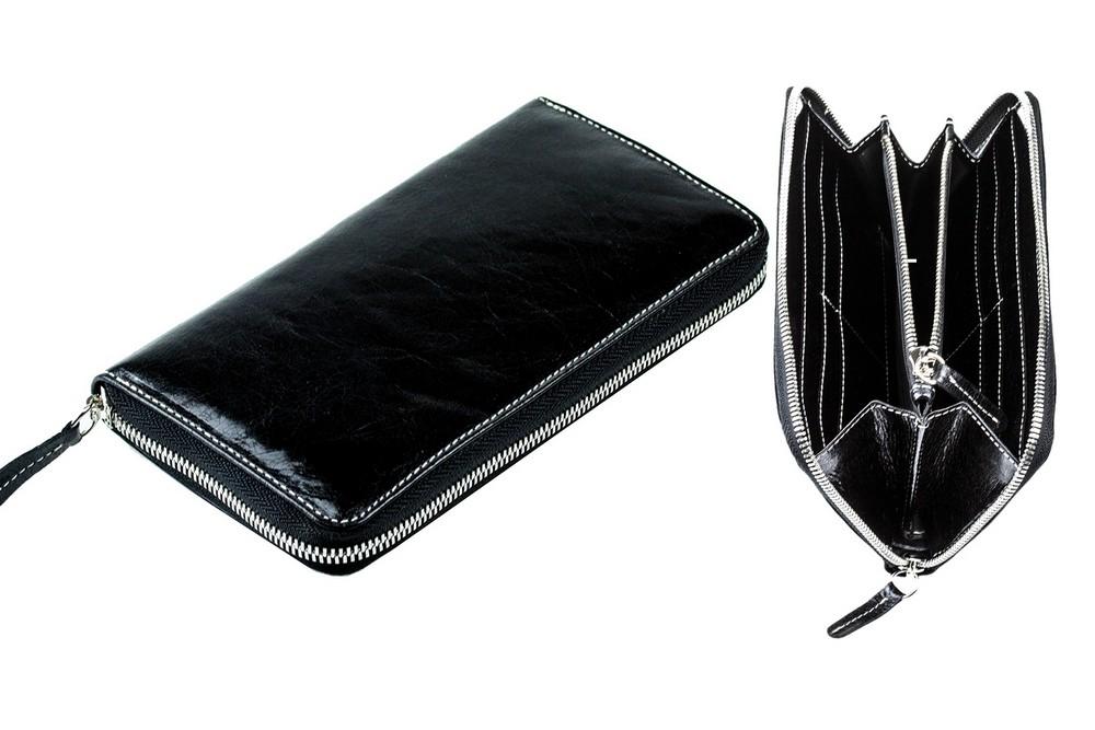 51df3f54bb489 Damenbörse mit Reißverschluß PREMIUM LEDER VINTAGE schwarz